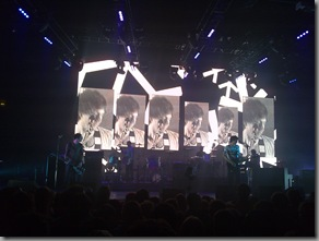 Impressive visuals on the large screen behind the band