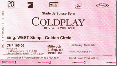 Coldplay Live!