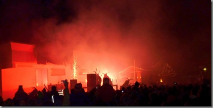 The closing ceremony in the main town square