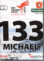 Since I hadn't got round to registering in advance, I had to have someone else's start number - cheers Michael!