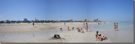The beach of Miami Beach