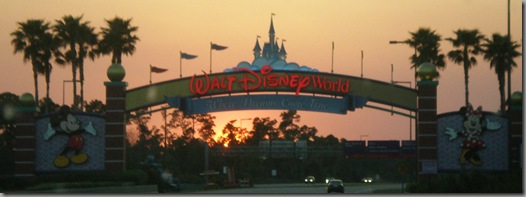 Entering the 46 sqaure mile Walt Disney World