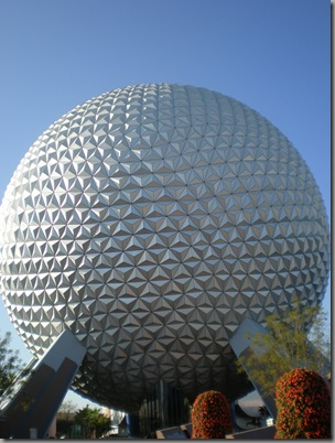 The iconic Spaceship Earth ride at Epcot